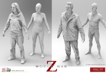 3D bringing to life a world-wide zombie invasion!
