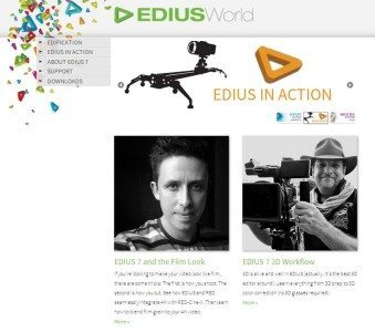 Grass Valley Launches EDIUSWorld.com for EDIUS 7 Users