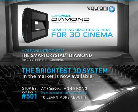 smart crystal diamon 3d projector volfoni 3d cinema