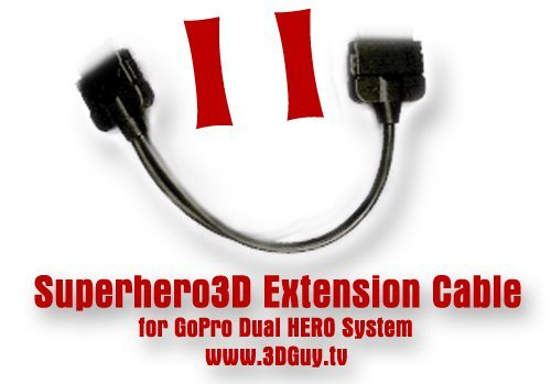 dual hero system - 3d extension cable  - 3dguy smiley red