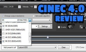 PC Windows Prores encoder and video converter Cinec 4.0 review sample al caudullo